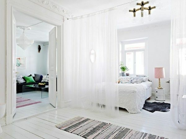 vorhang trennwand raumteiler ideen elegant