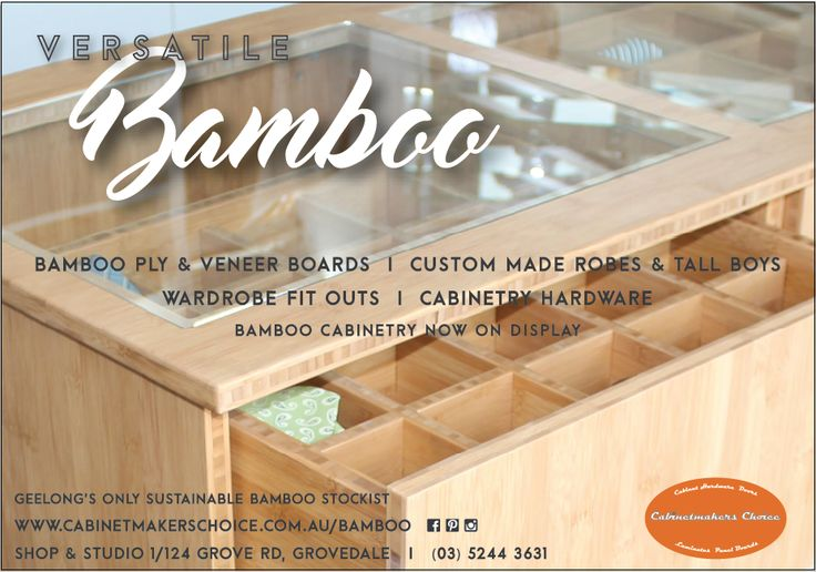 Cabinetmakers Choice is Geelong's only LETO sustainable bamboo stockist