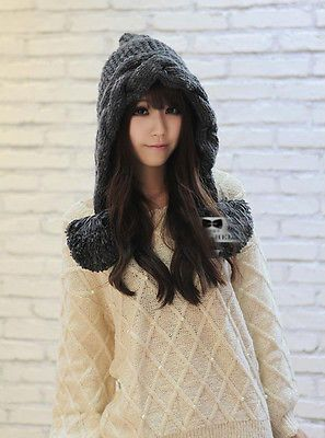 Lovely Women Girls Winter Warm Ear Snow Ski Cap Crochet Knit Baggy Beanie Hat