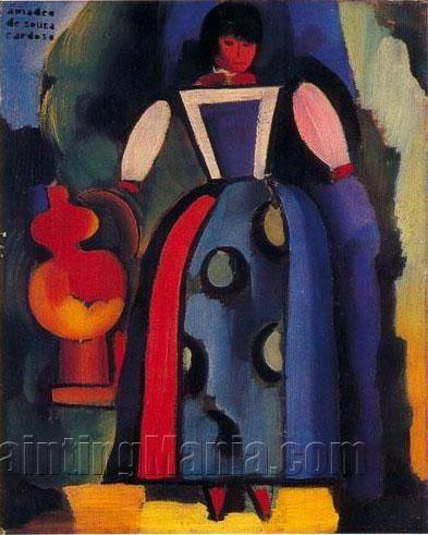 Folksong by Amadeo de Souza Cardoso, (1916), Oil on canvas