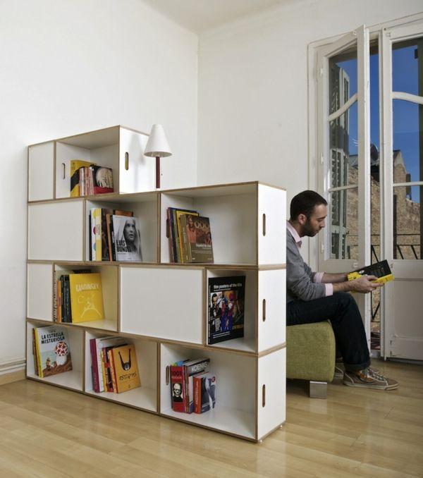 rangement modulable, étagères boîtes