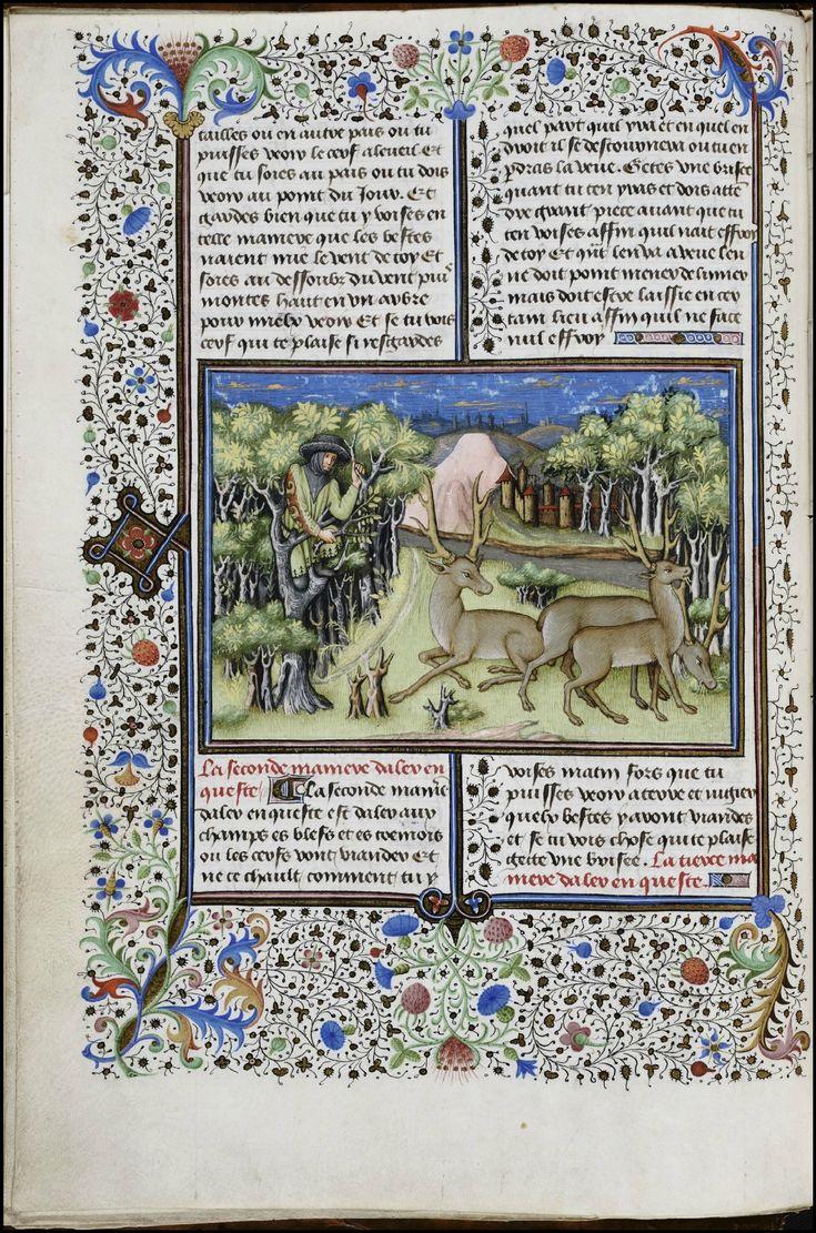 The Book of the Hunt of King Modus & Queen Ratio - 15th century Flemish manuscript miniatures