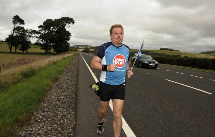 Picture Gallery | Comic Relief Eddie Izzard's epic Marathon running.