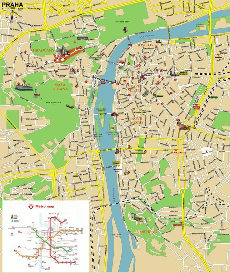 Prague Praha Tourist Map - Prague Czech Republic • mappery