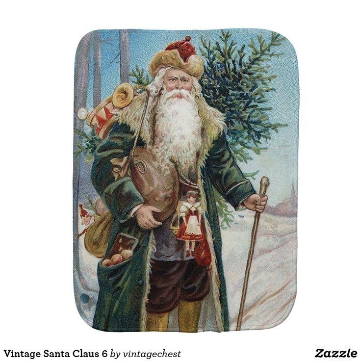 Vintage Santa Claus 6 Burp Cloth