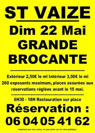 affiche Brocante Vide-Greniers du Gros Roc