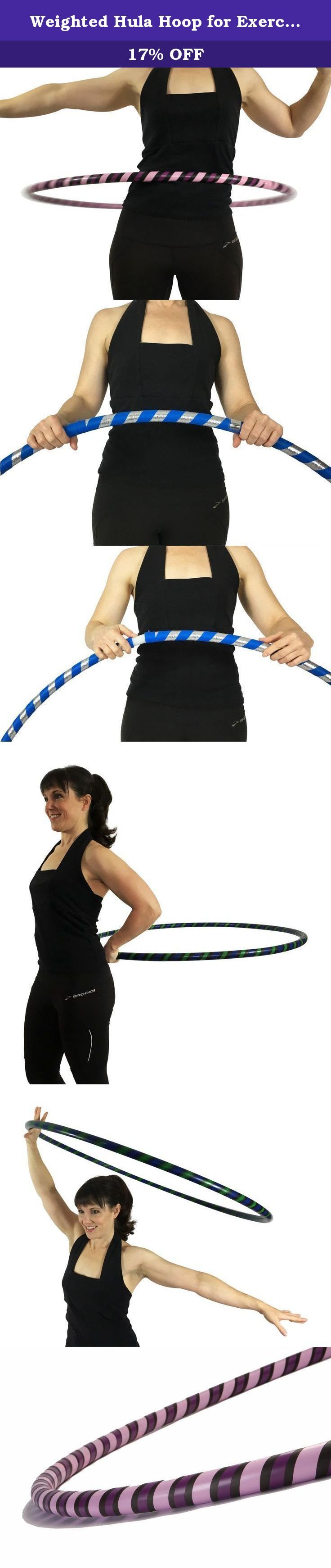 "Weighted Hula Hoop for Exercise and Fitness - 42"" Diameter Regular Adult. Weighted Hula Hoops from Canyon are the only custom hoops that use a heavy duty 200 psi polyethylene tubing for our exercise hoops, that is 25 percent heavier, stronger and 40 to 50 percent more expensive per foot than all other hoops of similar construction. No amount of normal use will cause the hoop to kink, crack, bend, or crush. Our Weighted Exercise Hoops have been designed to combine the ideal size and weight…"