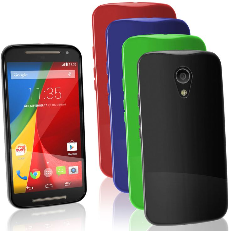 Funda TPU Gel Skin Carcasa para Motorola Moto G 2 ª Gen XT1068 Bumper Case Cover