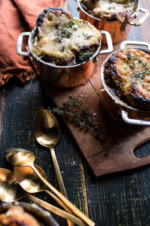 Crockpot French Onion Soup with Cheesy French Toast (VIDEO!!)   halfbakedharvest.com @hbharvest