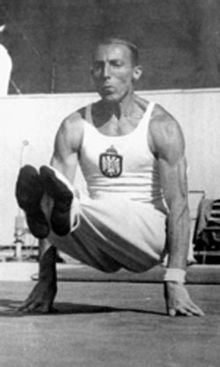 Leon Štukelj, the 100-Year-Old Olympic Legend.  He earned a total of 6 Olympic medals: 3 Gold, 1 Silver, and 2 Bronze. Other medals earned are 5 Gold, 3 Silver, and 3 Bronze; a total of 11 Worlds medals won. His last major competition was 1936 Olympic Games in Berlin.  He was also a lawyer by profession then turned judge after finishing his career in gymnastics. The man had both brains and brawn. That explains why he lived to be a century old and died just 4 days short of his 101st birthday.