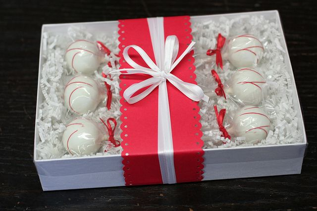 Box of Six Cake Pops in any flavor! Love the packaging
