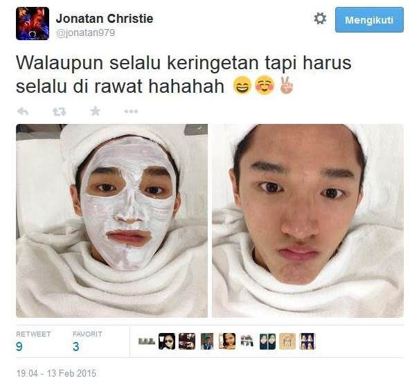 to beautiful / handsome face,wkwkw...