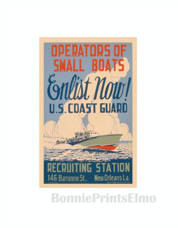 Coast Guard Poster, US Coast Guard, WW2  Coast Guard, WPA War Posters, Man Cave Decor, Apartment Wall Art, Boat Art Print, Gift for men by BonniePrintsElmo on Etsy