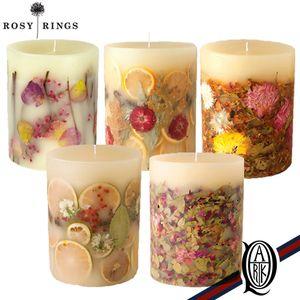 【正規取扱店】ROSY RINGS(ロージーリングス) ボタニカルキャンドル ROUND ラウ…