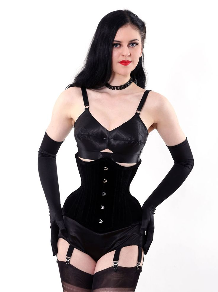 Curvy underbust corset in luxurious velvet wear over evening dresses