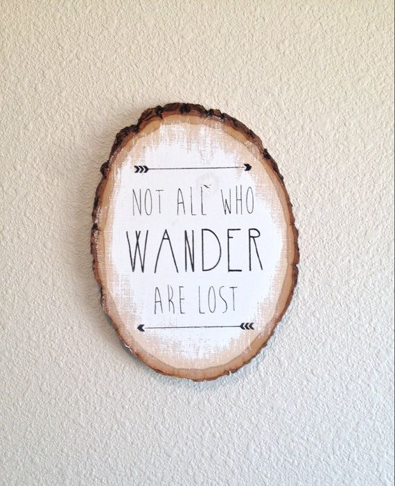 On Sale  Not All Who Wander Are by PiecesnLove on Etsy