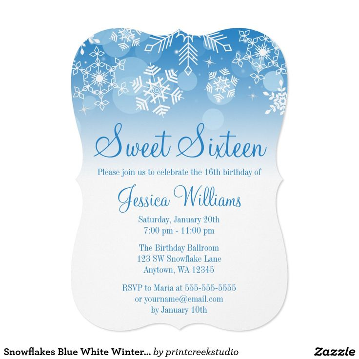 229 best winter wonderland sweet 16 ideas images on pinterest, Party invitations