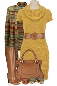 модный горчичный цвет в одежде