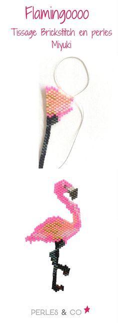 Le flamand rose/flamingo est LA star de cet été. Trouvez la grille de tissage et le tutoriel pour réaliser ce motif avec la méthode de tissage brickstich https://www.perlesandco.com/Grille_de_tissage_flamant_rose_Miyuki_Delicas-s-2696-47.html