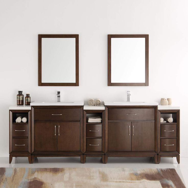 Fresca Cambridge 96 inch Double Sink Vanity with Mirrors FVN21-96
