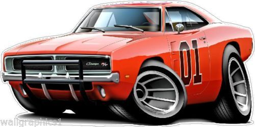 General Lee Charger R T Movie Cartoon Car 440