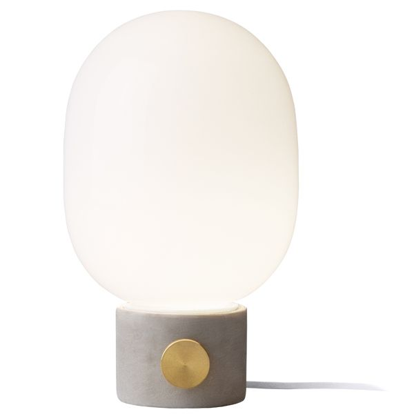 Amazing The Fun JWDA Table Lamp By Menu Is A Delightful, Compact Light That  Features A Light Grey Concrete Base, A Round Glass Shade And A Brass Dimmer  Knob. Idea