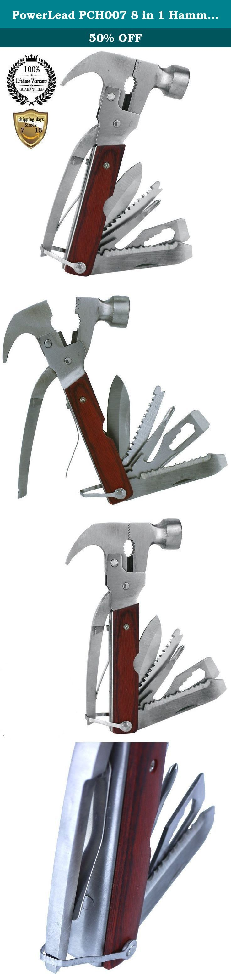 PowerLead PCH007 8 in 1 Hammer Axe Outdoor Pocket Tools Sport Camp Bike Stainless Steel Fold Multi Tools. Specifications: Name:multifunctional rescue tool Used:rescue and self-help Material:steel frame Advantages:convenient carrying, multiple functions, handle insulation characteristics Function: Is a set of cut, axe, hammer, lever and other functions as one of the portable hand tools. Can be open the wall, fire hydrant, removable glass curtain wall, can chop wood, rope. The army, armed...