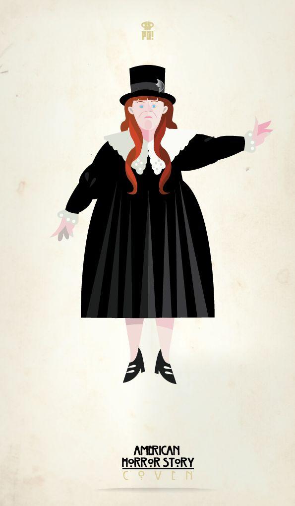 American Horror Story - Nan.  Image credit: Patricio Oliver #ahs #americanhorrorstory #illustrations
