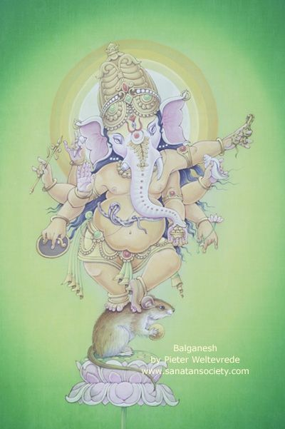 Ganesha... balances science and art, oppositions, and uses his fear to overcome obstacles.  Jai Ganesha!