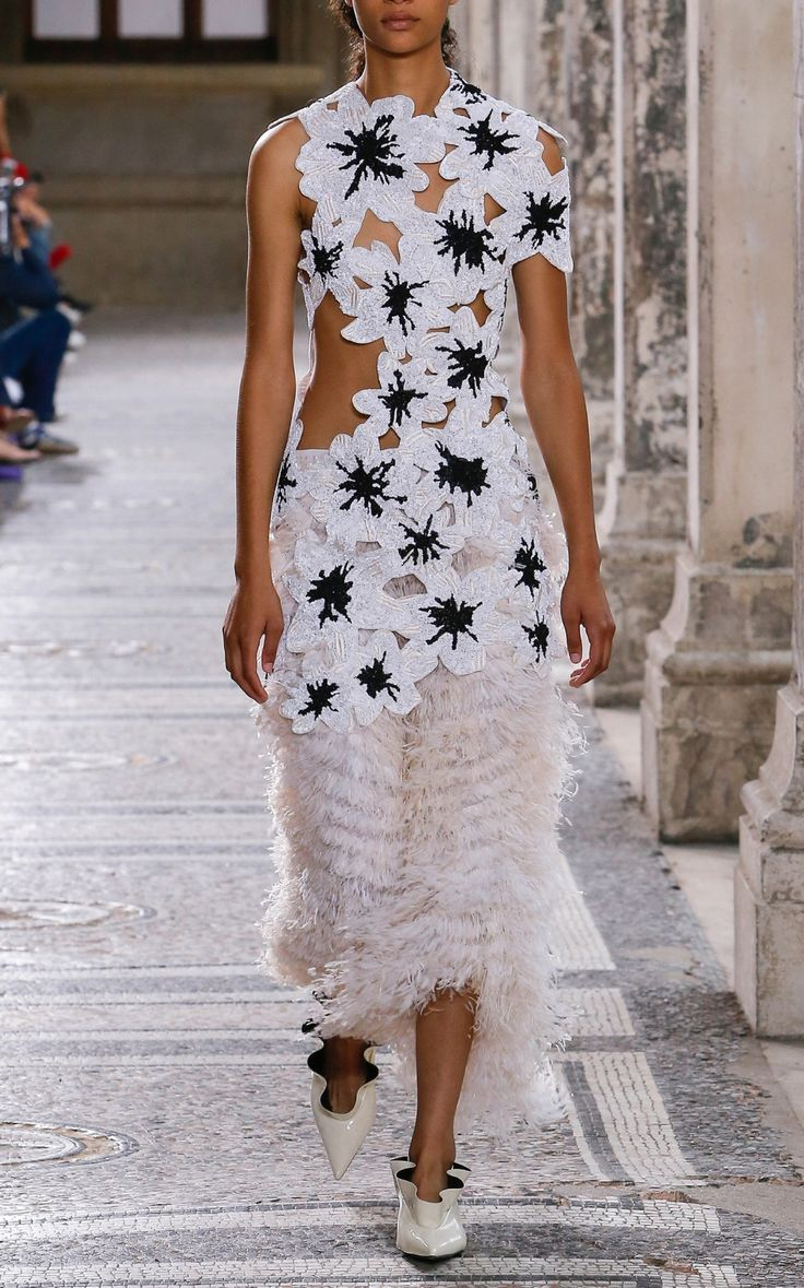 Pieced Flower Embroidery Top by Proenza Schouler