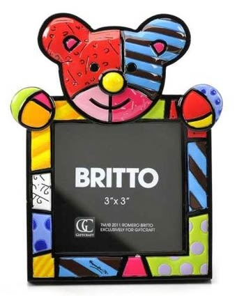Britto Bear Square Picture Frame  Available at: www.always-forever.com