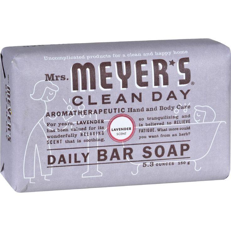Mrs. Meyer's Bar Soap - Lavender - 5.3 Oz - Case Of 12