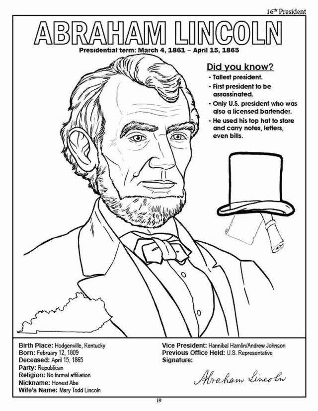 Wonderful Image Of Abraham Lincoln Coloring Page Albanysinsanity Com Abraham Lincoln Images Coloring Pages Coloring Books