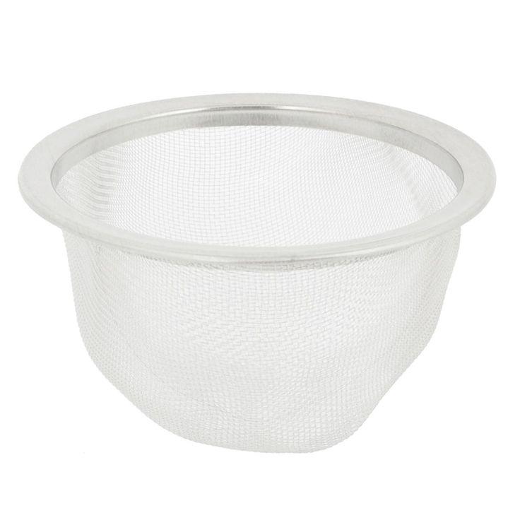 Unique Bargains Kitchen Bathroom Stainless Steel (Silver) Drainer Basin Filter Mesh Sink Strainer