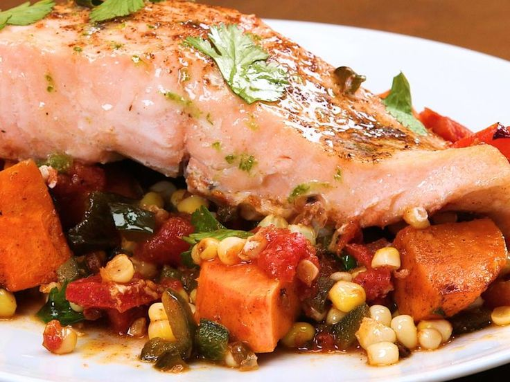 This simple, single-skillet supper is packed with bold flavor, but is quick enough for a busy weeknight. This foolproof recipe for salmon...