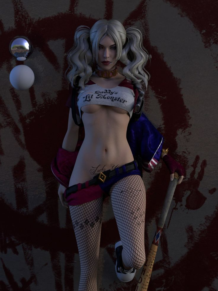 Are Hot harley quinn upskirt happens
