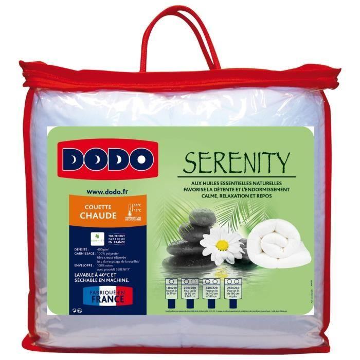 COUETTE DODO Couette chaude 400 gr/m² SERENITY 200x200 cm blanc