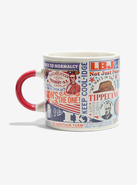 Vintage Presidential Campaign Slogans Mug,