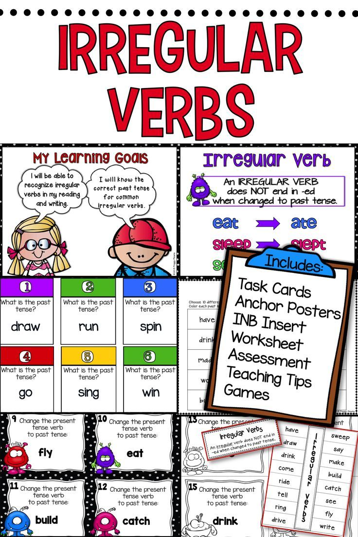 IRREGULAR VERBS MyEnglishTeachernet