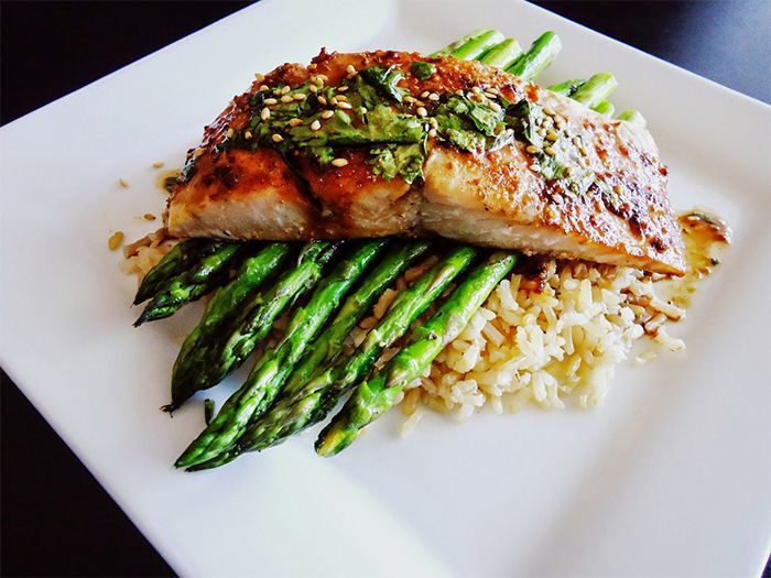 how to season brown rice for fish