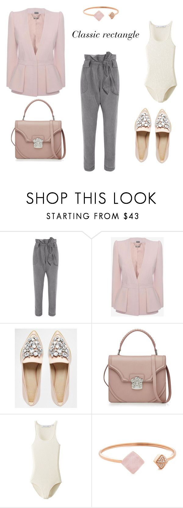 """Classic personality styling for rectangle body shape"" by monicazelin ❤ liked on Polyvore featuring Vivienne Westwood Anglomania, Alexander McQueen, ASOS, Uniqlo and Michael Kors"
