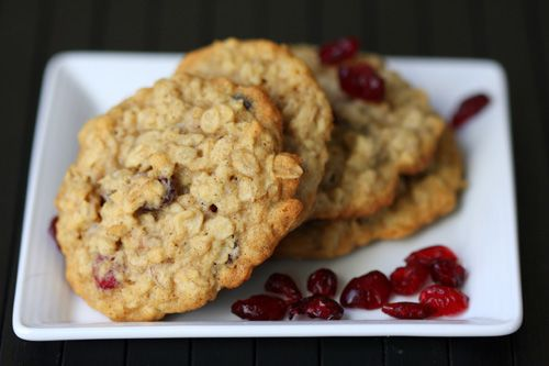 Oatmeal cranberry cookies - got 5 stars - I would make these with fresh cranberries sliced in half plus some chocolate chips.