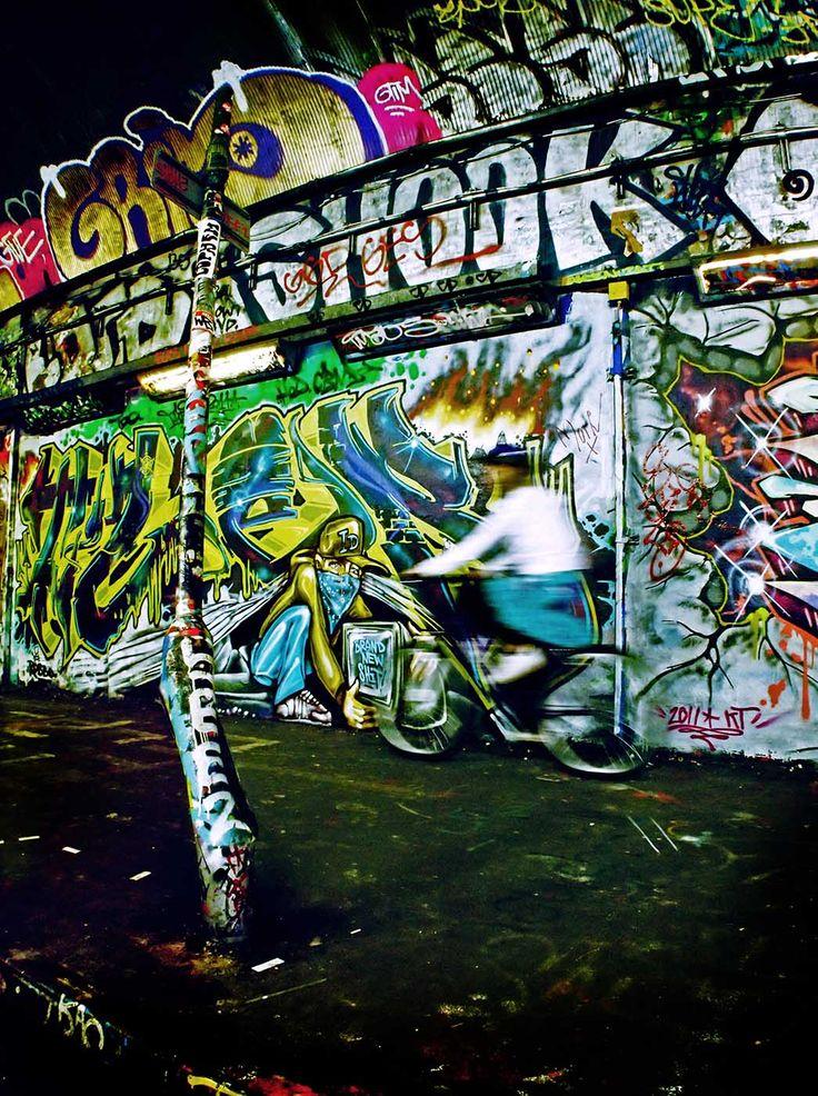 Leake Street Tunnel Graffiti and Street Art near Westminster Bridge, under Waterloo Station