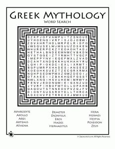 Greek Mythology Worksheets | Classroom Jr.- something for those who are done making Greek pots.