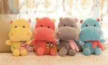 Cor aleatória Kawaii 22 CM boneca hipopótamo de pelúcia boneca de brinquedo ; otário Car & Room & janela pingente Bouquet boneca de brinquedo(China (Mainland))
