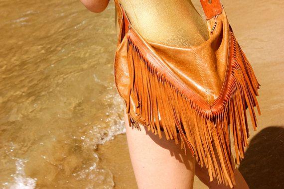 Lalimalu Warrior Leather Sling Bag. on Etsy, £160.19