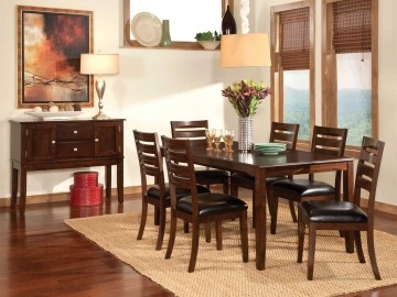 standard furniture weston rectangular leg dining table 4pc set in cherry 11640 casual dining sets - Dining Room Furniture Dallas
