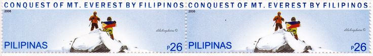 Philippines.  ASCENT TO MT. EVEREST BY FILIPINO CLIMBERS.  Scott 3073 A982, Issued 2006 Nov 23, Perf. 13 3/4, 26p. /ldb.