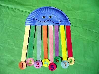Paper Plate Octopus Counting Craft from Kiboomu