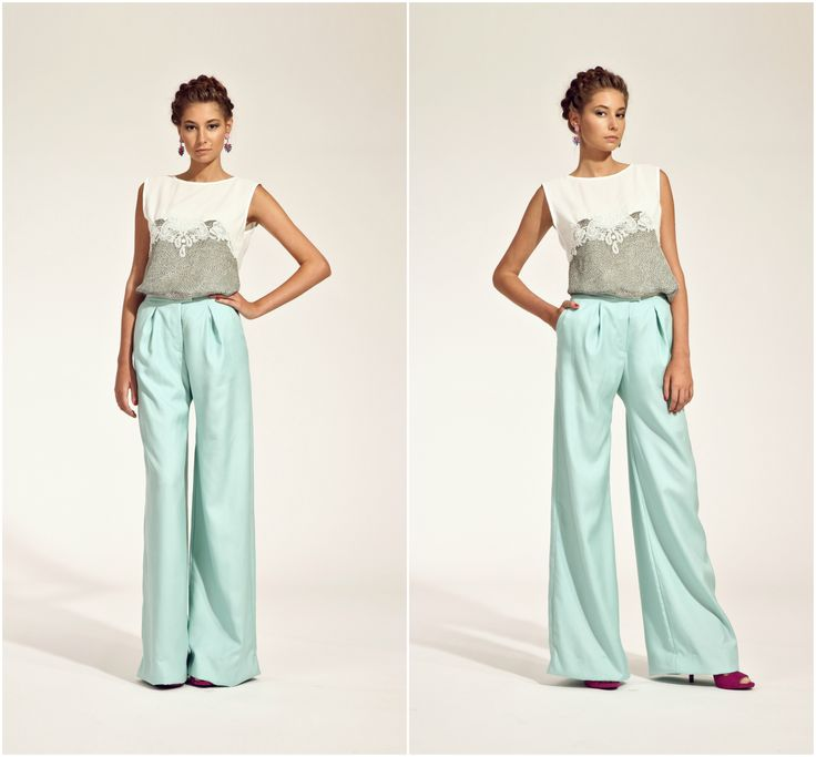 ZUZANA VESELÁ ATELIER. Trousers are the perfect secret to making your legs took a mile long. #ss16 #zuzanavesela, #czechdesigner #pfsshowroom #fashion #summer @zvesel